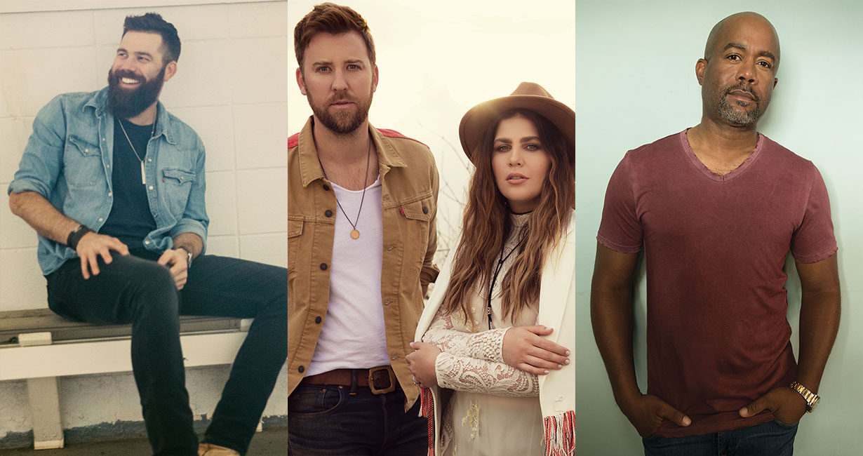 Jordan Davis, Lady Antebellum and Darius Rucker